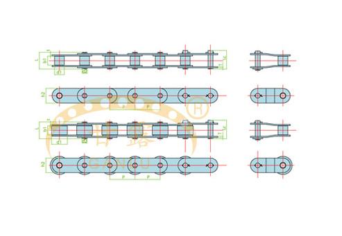 双节距输送链