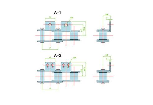 双节距输送链附件